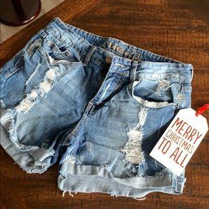 🎄Rue 21 Hi-Waisted Midi Jean Shorts